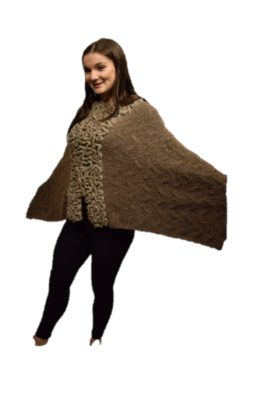Brown coral poncho