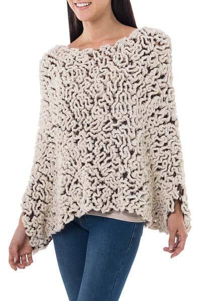 Cream Coral pullover
