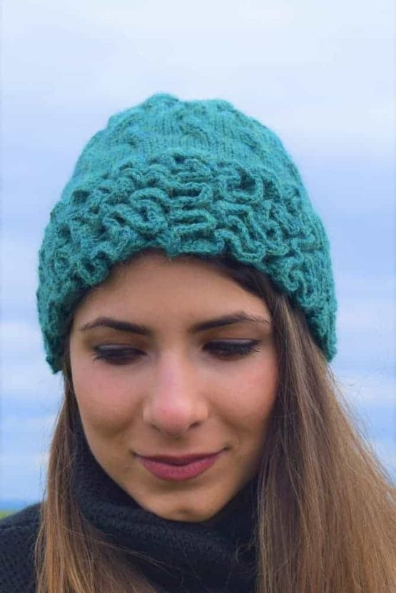 Green coral hat