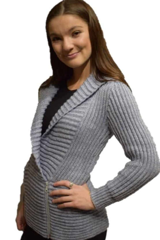 Grey Marina hooded Cardigan