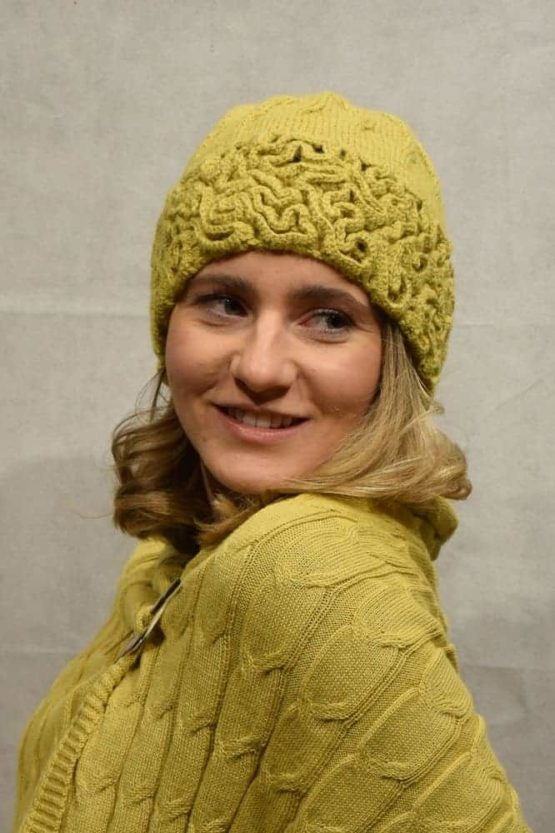 Lime Coral hat