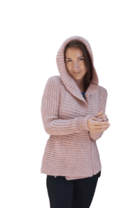 Luiva peach hooded cardigan