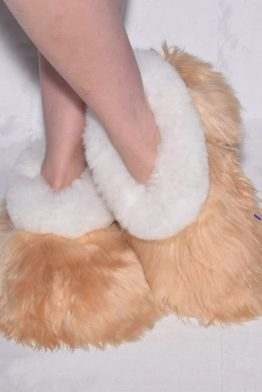 Beige-white suri slippers