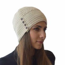 White button hat