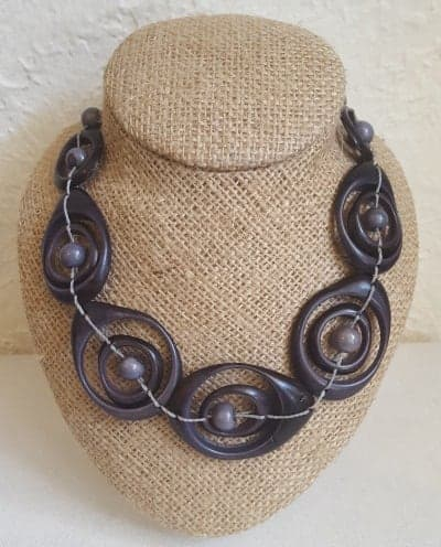 Grey Swirl Necklace