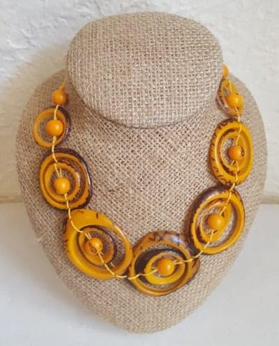 Mustard Swirl Necklace