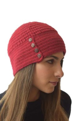 Red button hat