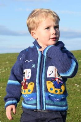 Children cardigan, Pirates, 2-3