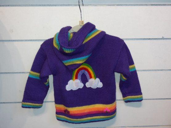 Unicorn's purple back cardigan