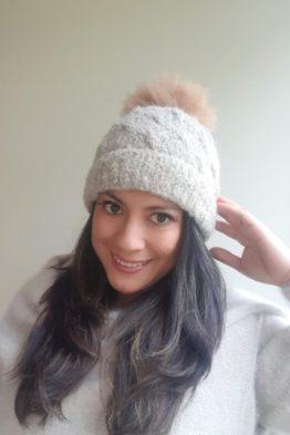 boucle beige hat