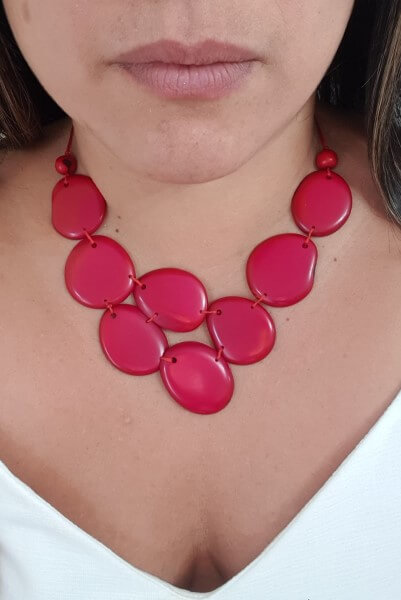 Skye necklace- Red