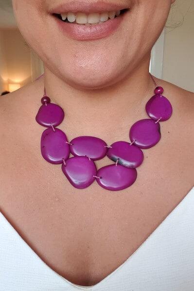Skye necklace- Purple