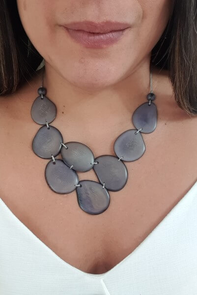 Skye necklace- Grey