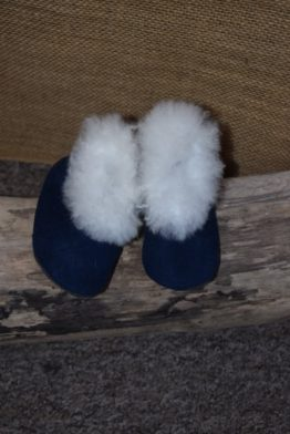 Blue baby slippers