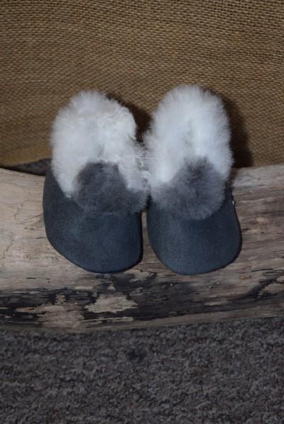 Grey baby slippers