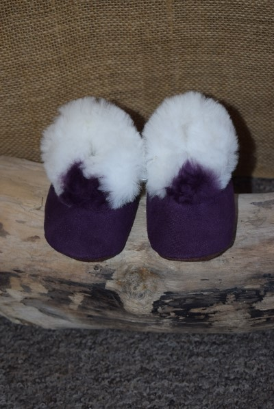 Purple baby slippers