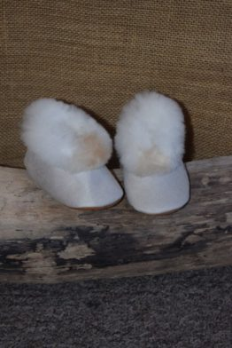 White baby slippers